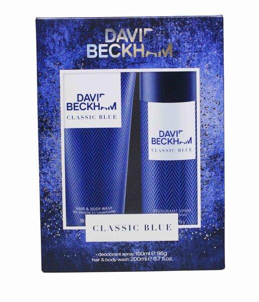 Komplekt David Beckham Classic Blue meestele: spreideodorant 150ml + dušigeel 200 ml hind ja info | Lõhnastatud kosmeetika meestele | kaup24.ee