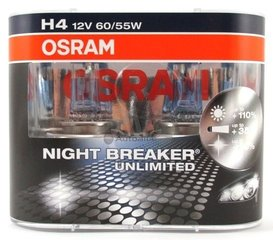 OSRAM лампа для автомобилей H4 12V 60/55W Night Breaker Unlimited