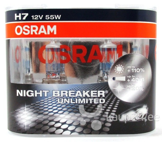 Osram pirn H7 12V 55W Night Breaker Unlimited цена и информация | Autopirnid | kaup24.ee