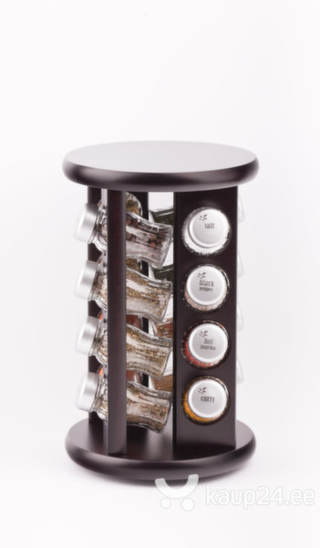 Набор для специй 16 частей круглая подставка цена и информация | Maitseainete komplektid, pipraveskid | kaup24.ee