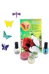 Särav tattoo komplekt Liblikad hind ja info | Karnevali kostüümid | kaup24.ee