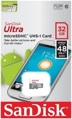Mälukaart SanDisk Ultra microSDHC 32GB 48MB/s UHS-I Class 10