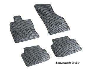 Резиновые коврики Skoda Octavia III 2012-> цена и информация | Резиновые коврики | kaup24.ee
