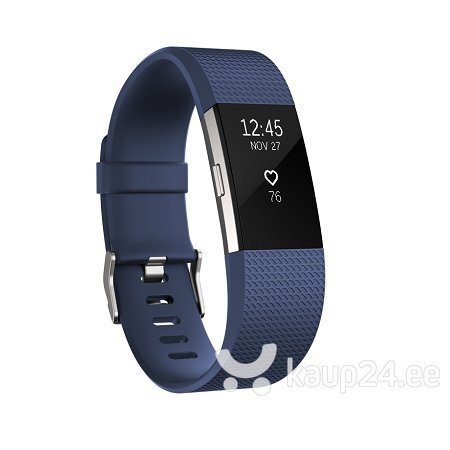 Nutivõru Fitbit Charge 2 Blue Silver Small