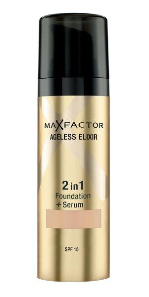 Jumestuskreem seerumiga Ageless Elixir 2in1 Max Factor 30 ml hind ja info | Näole | kaup24.ee