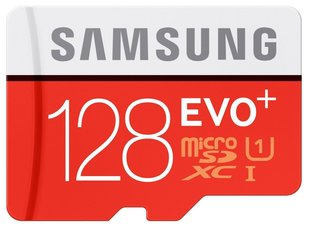 Mälukaart Samsung microSDXC 128GB, 10 klass + SD adapter