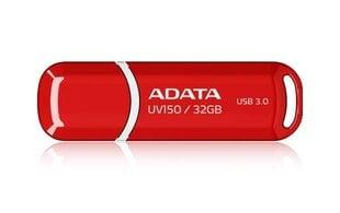 Mälupulk A-data UV150 32GB, USB 3.0, punane hind ja info | Mälupulgad | kaup24.ee