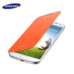 Mobiili ümbris Samsung EF-FI950BOEG Super Slim Book Flip sobib i9500 i9505 Galaxy S4, Oranž