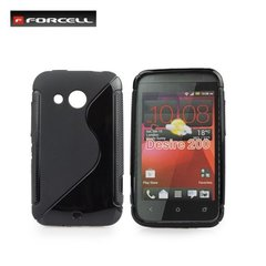 Kaitseümbris Forcell Back Case sobib HTC Desire 200, must