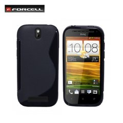 Kaitseümbris Forcell Back Case sobib HTC One SV (C520e), must