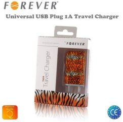 Adapter Forever Tiger 1A USB Plug Universal Travel Charger (EU Blister)