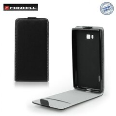 Klapiga ümbris Forcell Flexi Slim Flip sobib Lenovo A5000, must hind ja info | Telefoni kaaned, ümbrised | kaup24.ee