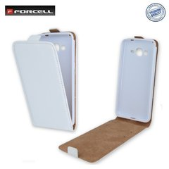 Kaisteümbris Forcell Flexi Slim Flip Asus Zenfone 5 A500KL vertical case in silicone holder White