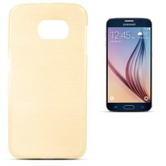 Kaisteümbris Forcell Jelly Brush Pearl Back Case Samsung G920 Galaxy S6 Gold hind ja info | Mobiili ümbrised, kaaned | kaup24.ee