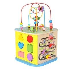 Arendav puidust mängukuubik labürindiga hind ja info | Arendavad mänguasjad 3+ | kaup24.ee