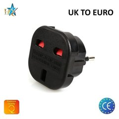 HQ Power Plug adapter from UK (United Kingdom) 3pin to Euro Socket - UK to EU Adapter (OEM)
