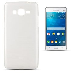 Kaitseümbris Forcell Jelly Brush Pearl Back Case sobib Samsung Galaxy Grand Prime (G530, G531), valge