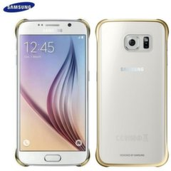 Kaitseümbris Samsung EF-QG920BFE Super Slim Back Case G920 Galaxy S6 Clear/Gold (Bulk)