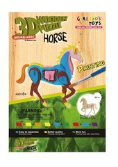 3D puidust pusle Värviline hobune 41636, 30 osa