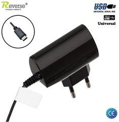 Laadija Reverse RTC-1-T Universal Micro USB, (Euro CE), must