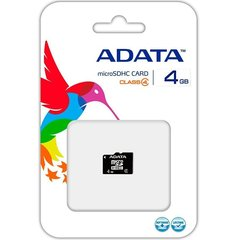 Mälukaart A-Data MICRO SDHC CARD 4GB CLASS 4