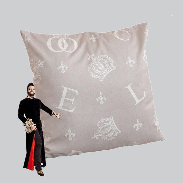 Dekoratiivne padi Letters&Crowns, 45x45cm