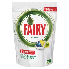 Nõudepesumasina kapslid FAIRY All in 1 Lemon​, 48 tk