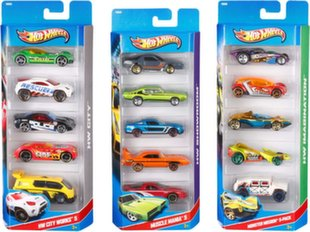 Mudelautode komplekt Hot Wheels 1806, 5 tk