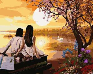 Картина - раскраска по номерам «Романтическое свидание» - GX8421