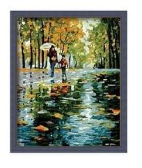 "Картина - раскраска по номерам ""Прогулка с мамой"" - G125"
