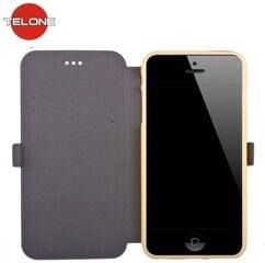 Klapiga ümbris Telone Super Slim Shine sobib Samsung Galaxy Note 3, kuldne