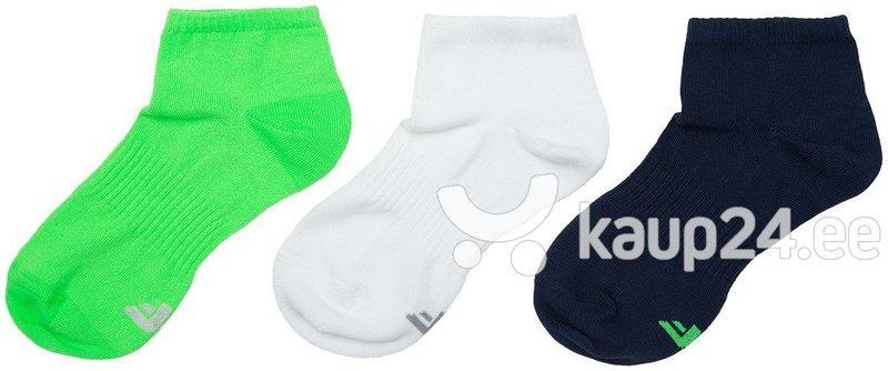 Laste sokid 4F, 3 paari, valge/sinine/roheline