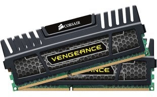 Corsair Vengeance Black 16GB DDR3 CL10 KIT OF 2 CMZ16GX3M2A1600C10 hind ja info | Operatiivmälu (RAM) | kaup24.ee