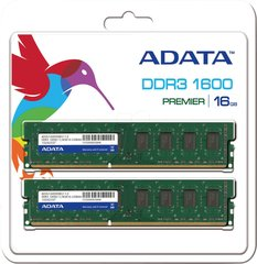 A-Data 16GB 1600MHz DDR3 CL11 KIT OF 2 AD3U1600W8G11-2