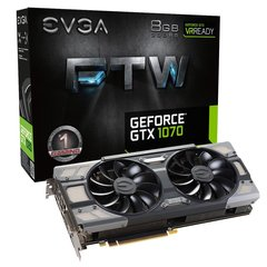 EVGA GeForce GTX1070 FTW Gaming 8GB GDDR5 PCIE 08G-P4-6276-KR
