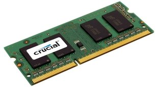 Operatiivmälu Crucial 2GB DDR3 PC3-12800 CL11 SO-DIMM CT25664BF160B