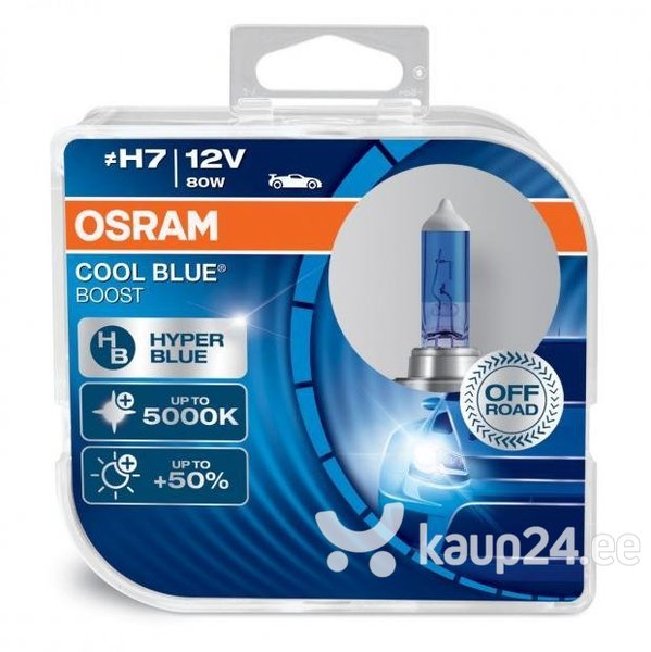 auto pirnid osram cool blue boost h7 80w 12v p43t 2 tk. Black Bedroom Furniture Sets. Home Design Ideas