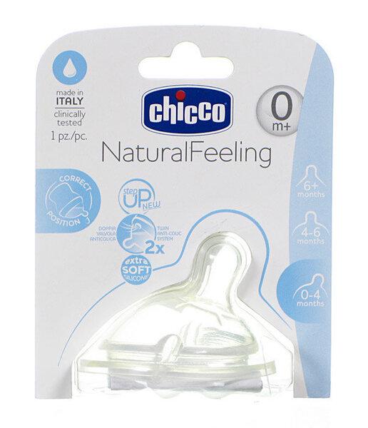 Silikoonlutt Chicco Natural Feeling, 0+ kuud