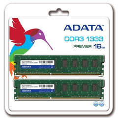 Operatiivmälu A-Data 16GB 1333MHz DDR3 CL9 KIT OF 2 AD3U1333W8G9-2