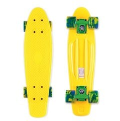 Rula Pennyboard Street Surfing Beach Board, Summer Sun Yellow