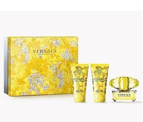 Komplekt Versace Yellow Diamond EDT naistele 50 ml + ihupiim 50 ml + dušigeel 50 ml