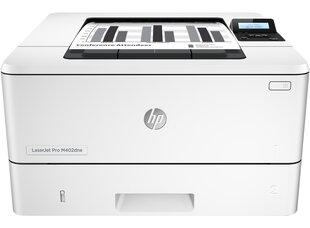 Must-valge laserprinter HP LaserJet Pro M402dne
