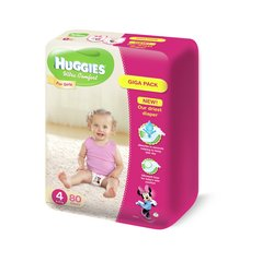 Mähkmed Huggies Ultra Comfort Girls 4 Giga, 80 tk