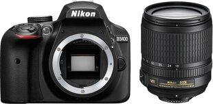 Peegelkaamera Nikon D3400 + 18-105mm AF-S VR, Must