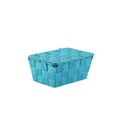Vannitoa korv kaanega Scandi, sinine