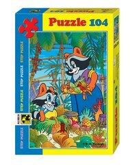Pusle Step Puzzle 104, The Little Raccoon hind ja info | Pusled | kaup24.ee