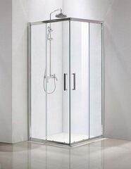 Nelinurkne dušikabiin Sensea Quad, 80x80 hind ja info | Dušikabiinid | kaup24.ee