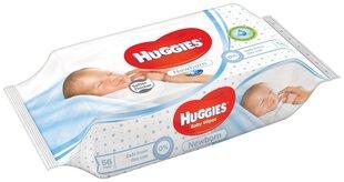 Niisked salvrätikud HUGGIES Newborn, 56tk