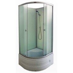 Neljaseinaga dušikabiin R8503 White, 90x90 cm hind ja info | Neljaseinaga dušikabiin R8503 White, 90x90 cm | kaup24.ee