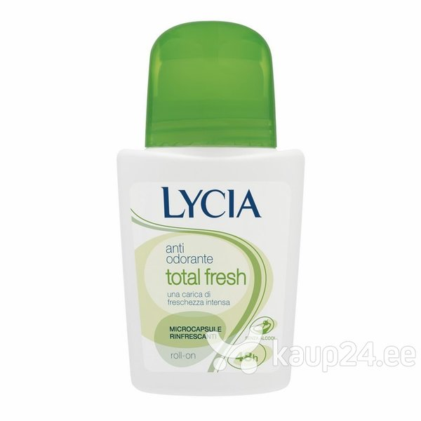 Naiste rulldeodorant Lycia Total Fresh 50 ml